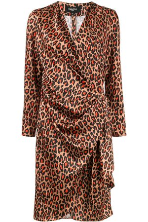 Paule Ka Vestido cruzado con estampado de leopardo