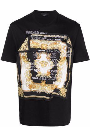 Versace Baroque-patch T-shirt