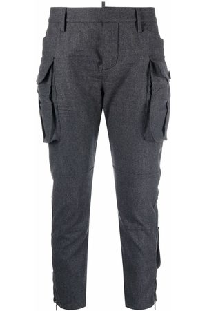 Dsquared2 Mujer Cargo - Cargo pocket cropped trousers