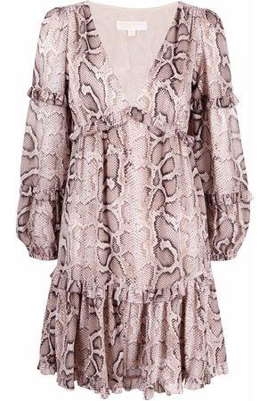 Michael Kors Snakeskin-print mini dress