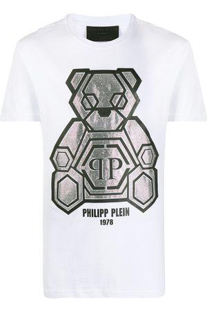 Philipp Plein Playera con motivo de osito en strass