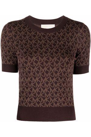Michael Kors Mujer Tops - Monogram-print knitted top