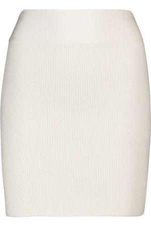 GALVAN Ribbed miniskirt