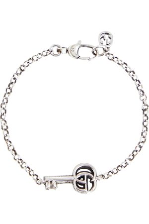 Gucci Double G key sterling silver bracelet