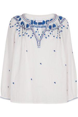 Velvet Lynette embroidered cotton top