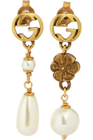 Gucci GG earrings with faux pearls