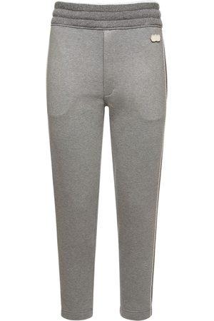 Agnona Mujer Pantalones y Leggings - Pantalones De Felpa De Algodón Con Cashmere