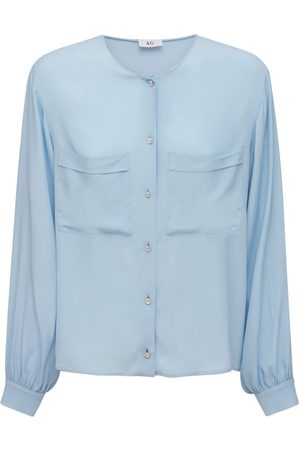 AG Camisa De Crepé De Seda De China