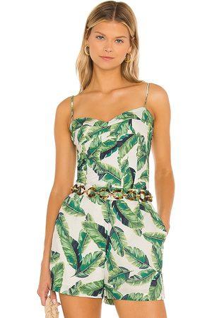 Amanda Uprichard Finola top en color verde talla L en - Green. Talla L (también en XS, S, M).