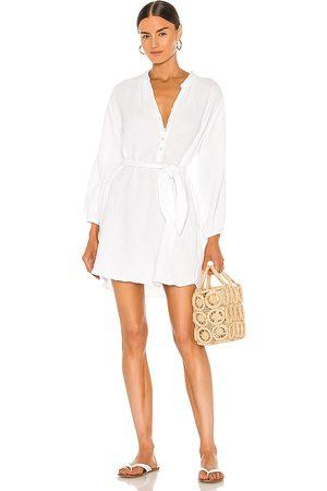 LA Made Vestido sonia en color talla L en - White. Talla L (también en S, XS, M).