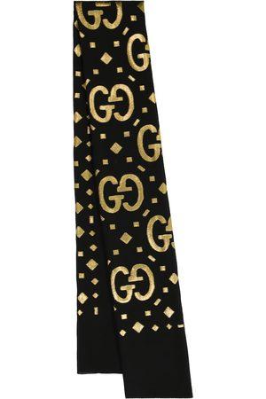 Gucci GG fil coupé lamé silk-blend scarf