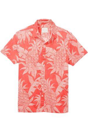 AMERICAN EAGLE Camisa Manga Corta Con Botones Oxford L Coral