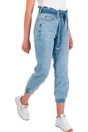 AMERICAN EAGLE Mujer Joggers - Pantalones Vaquero Jogger Cintura Super Alta 0 Blue Breeze