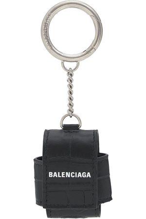 Balenciaga Estuche Para Airpods De Piel Efecto Cocodrilo