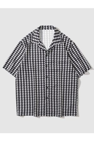 Zaful Short Sleeve Allover Print Shirt