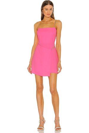 Amanda Uprichard Vestido stilla en color rosado talla L en - Pink. Talla L (también en XS, S, M).