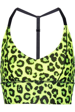 Adam Selman Sport Mujer Deportivos - Leopard-print triangle sports bra