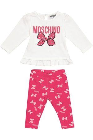 Moschino Baby printed T-shirt and leggings set
