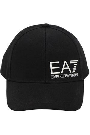 EA7 Gorra De Baseball De Lona De Algodón Con Logo