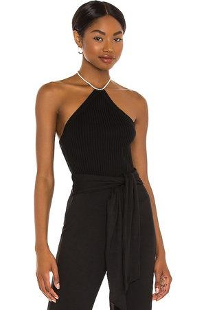 LINE & DOT Mujer Tops - X revolve elizabeth pearl neck halter top en color talla L en - Black. Talla L (también en S, XS, M).