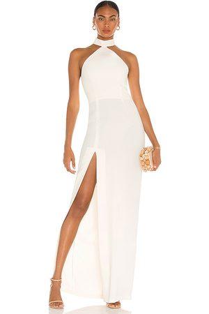 Amanda Uprichard Vestido largo queen en color talla L en - . Talla L (también en XS, S, M).
