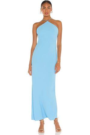 Amanda Uprichard Vestido riesling en color azul talla L en - Blue. Talla L (también en XS, S, M).