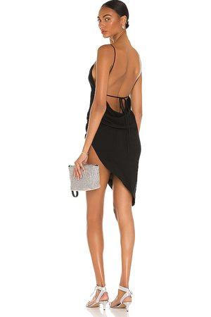 Amanda Uprichard Vestido janet en color talla L en - Black. Talla L (también en XS, S, M).