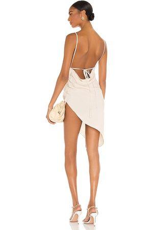 Amanda Uprichard Vestido janet en color talla L en - Cream. Talla L (también en XS, S, M).