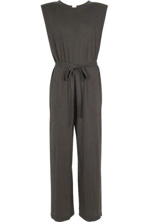 Velvet Lynne smocked cotton jumpsuit