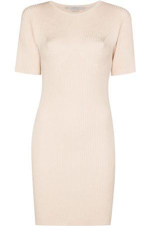 Stella McCartney Mujer Cóctel - Vestido corto tejido de canalé