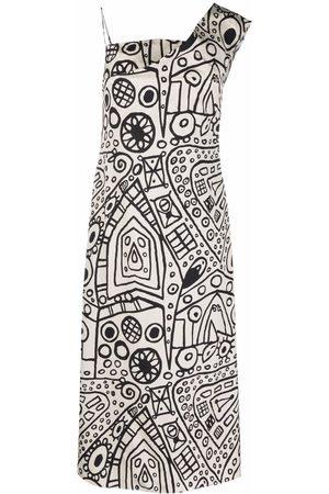 Colville Vestido con estampado gráfico
