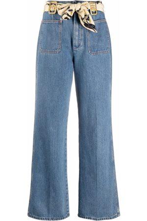 Lanvin Mujer Mascadas - Jeans con detalle de mascada