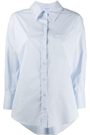 ANINE BING Camisa con dobladillo asimétrico