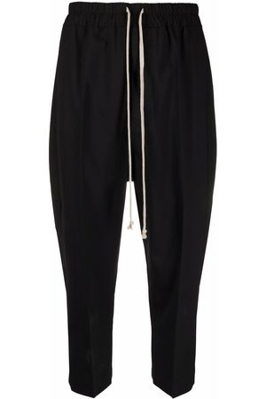 Rick Owens Pantalones capri con cordones en la pretina