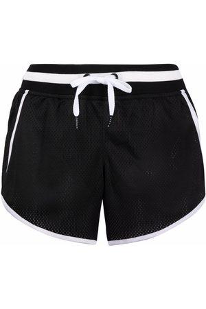 DKNY Mujer Shorts - Shorts con efecto de malla