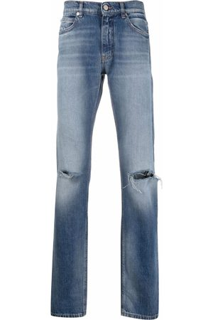 VERSACE Jeans rectos con efecto envejecido