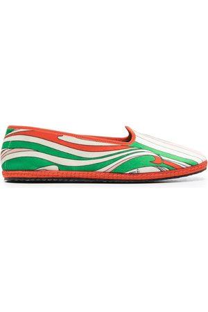 Emilio Pucci Mujer Flats - Slippers con estampado Vortici Baby