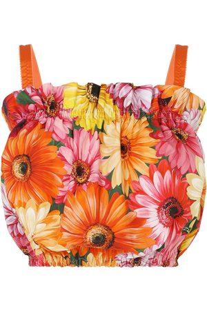 Dolce & Gabbana Mujer Blusas - Blusa corta con estampado floral