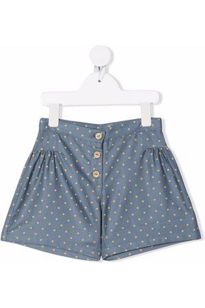 KNOT Shorts con estampado de lunares