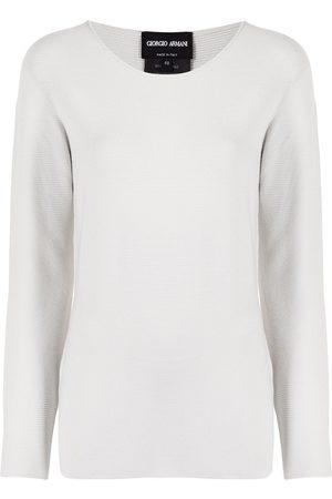 Armani Suéter tejido de canalé