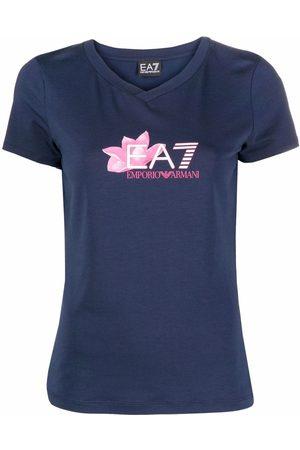 EA7 Mujer Playeras - Camiseta con logo estampado