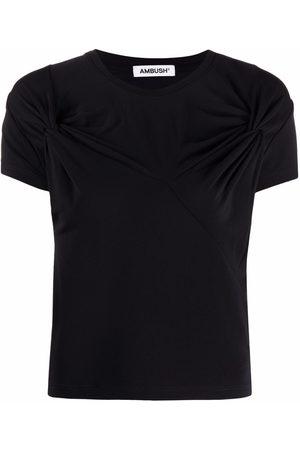 AMBUSH Camiseta con cuello redondo y detalle retorcido