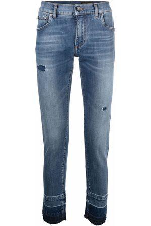 Dolce & Gabbana Jeans slim con detalles rasgados