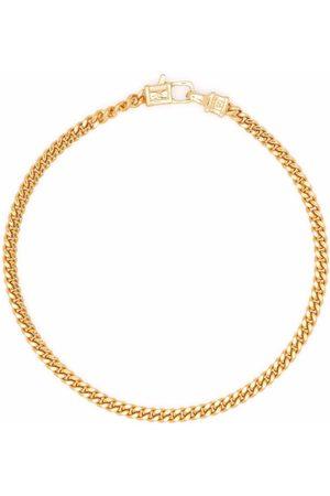 TOM WOOD Pulsera Curb M en plata de ley bañada en oro