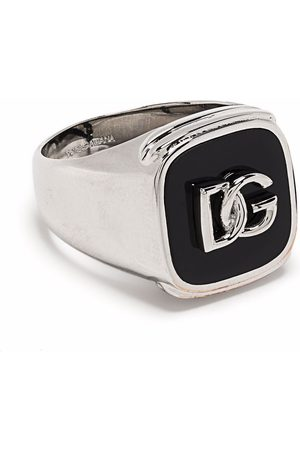 Dolce & Gabbana Anillo de sello con logo en relieve