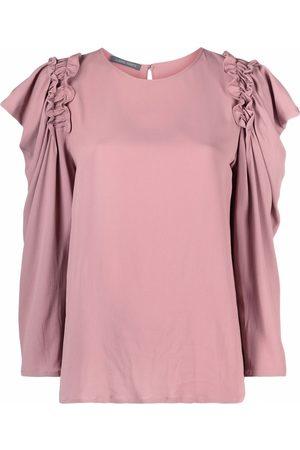 Alberta Ferretti Mujer Blusas - Blusa fruncida manga larga