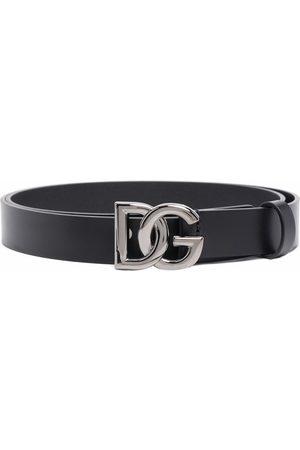 Dolce & Gabbana Hombre Cinturones - Crossed DG logo buckle belt