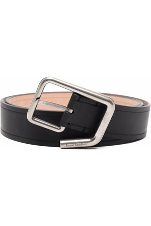Acne Studios Cinturones - Engraved-logo buckle belt