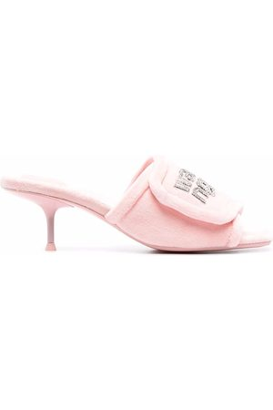 Alexander Wang Mujer Sandalias - Jessie crystal logo sandals