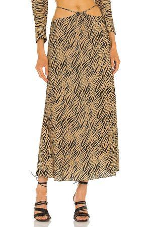 JONATHAN SIMKHAI Mujer Faldas - Falda shiloh en color bronce talla L en - Tan. Talla L (también en XS, S, M).
